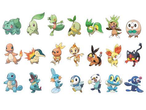 All Starter Pokemon! By Combusken721 On Deviantart