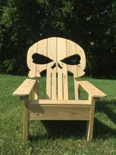 skull adirondack chair plans 1000 images about build this on bobbers cafe