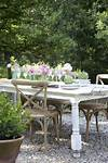 Dining outdoors on the patio - FRENCH COUNTRY COTTAGE french country outdoor patio furniture