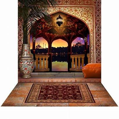 Arabian Balcony Backdrop Backdrops Floor Nights Fabric