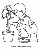 Coloring Pages Arbor Tree Boy Trees Watering Plants Planting Seedling Flowers Care Fire Truck Plant Preschooler Print Coloringhome Getcoloringpages Earth sketch template