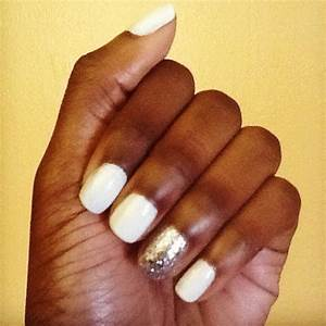 Winter white nail polish of our manicures this