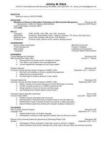 Computer Science Graduate Resume Exle by Ba Computer Science Resume Sales Computer Science
