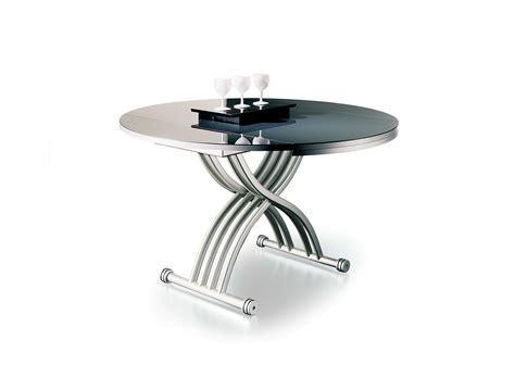 table basse r 201 glable en hauteur rond 210 cr by ozzio design design studio pizeta