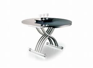 Table Basse Reglable Hauteur : table basse r glable en hauteur rond cr by ozzio design ~ Carolinahurricanesstore.com Idées de Décoration