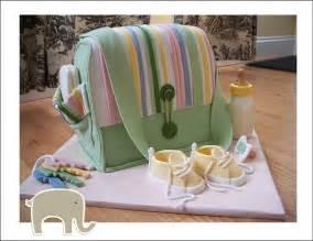 Bag Diaper for Baby Shower Cake Idea