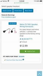 2017 Nissan Titan Factory Speakers Replacement