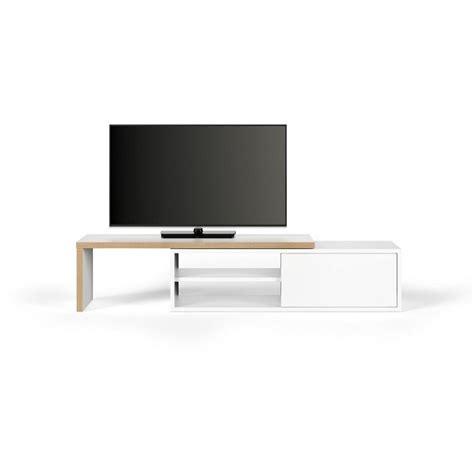 meuble tv blanc et bois meubles tv meubles et rangements temahome meuble tv modulable move blanc mat et bois avec 1