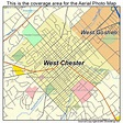 Aerial Photography Map of West Chester, PA Pennsylvania