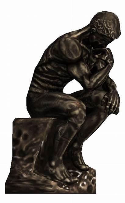 Thinker Transparent Statue Bioshock Computer History