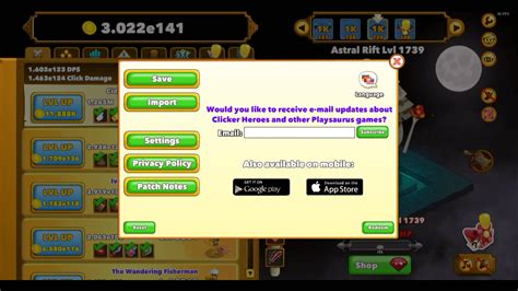 clicker heroes codes import  redeem   gaming