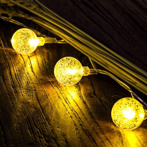 solar globe lights outdoor 50 led solar outdoor string lights globe string fairy