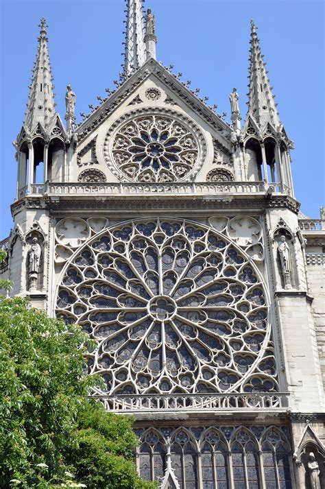 Notre Dame Cathedral Rose Window Detail June 2010 Photo By