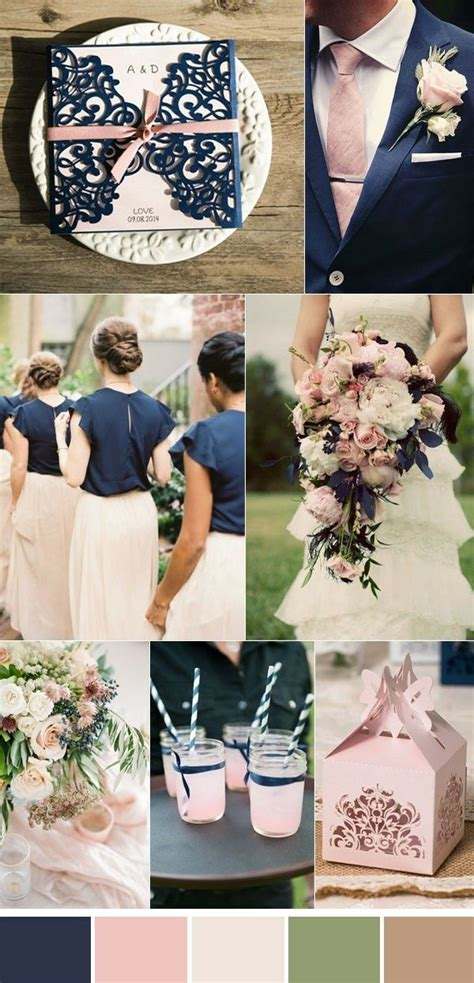Beautiful pink and navy blue ideas Thème couleur mariage