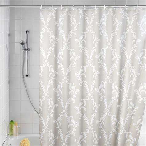 grey fabric shower curtain curtain ideas