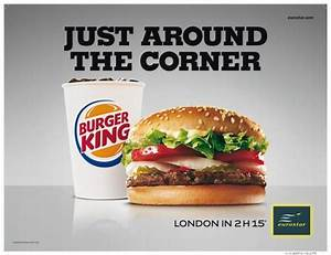 "Eurostar: ""Burger King"" Print Ad by Leg"