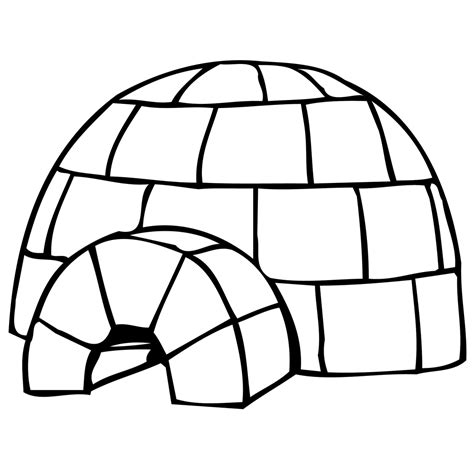 Iglo Huis Kleurplaat leuk voor iglo