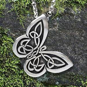 "- Celtic Butterfly Pendant with ""Spread your wings"" Affirmation on the back #CWB"