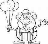 Coloring Balloons Clown Pages Circus Clipart Happy Cartoon Balloon Drawing Funny Printable Waving Toon Clip Vector Birthday Print Drawings Character sketch template