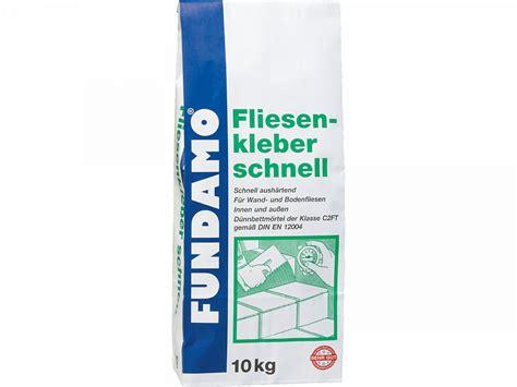 Fliesenkleber Schnell by Fundamo Fliesenkleber Schnell 10kg 10 Kg Bei Hellweg