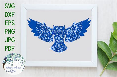 Grab these free mandala animal svg files! Owl Floral Mandala SVG/DXF/EPS/PNG/JPG/PDF By Wispy Willow ...