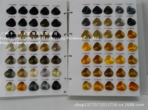 China 350 Colors Professional Hair Color Chart For Salon