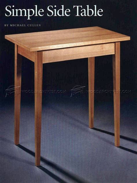simple table design simple side table plans woodarchivist