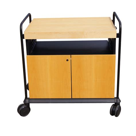 Kitchen Cart Rolling by Kitchen Utility Birch Rolling Cart Cabinet With Butcher