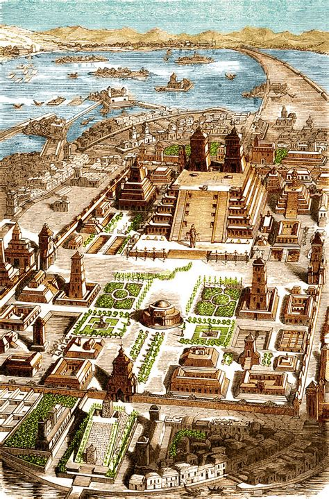 acrylic wall pictures tenochtitlan aztec city state photograph by science source