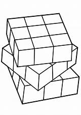 Cube Coloring Rubiks Pages Rubik Print sketch template