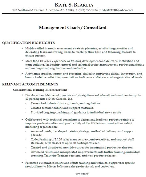 functional executive format resume builder functional resume sle management coach management consultant
