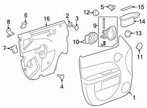 Chevrolet Hhr Door Lock Switch  Left  Trim  Front