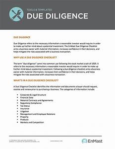due diligence checklist With technology due diligence template