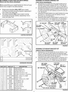 Craftsman 45 04371 User Manual Weight Bracket Kit Manuals