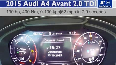 2016 Audi A4 2.0 Tdi Acceleration Test Showcases Virtual