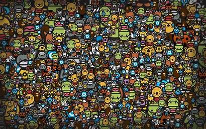 Anime Funny Backgrounds Wallpapers Desktop Wallpapertag Heads