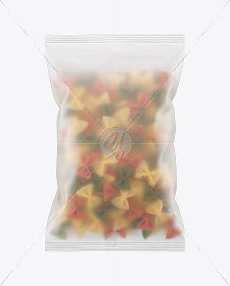 Potato chip packaging bag plastic bag packaging prototype bag simple life creative packaging. Frosted Plastic Bag With Tricolor Farfalle Pasta Mockup in ...