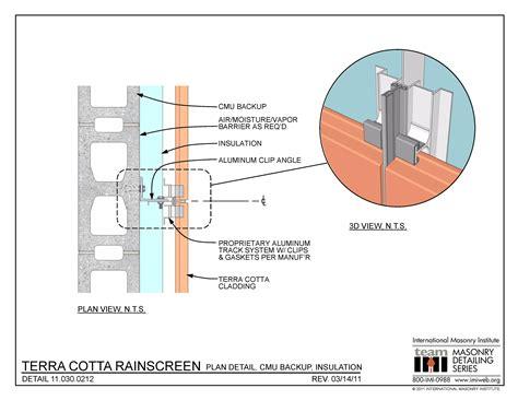Cmu Housing Floor Plans by 11 030 0212 Terra Cotta Rainscreen Plan Detail Cmu