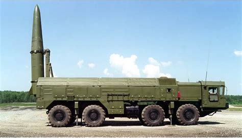 Iskander Iskander-M missile 9K720 9P78E 9T250E SS-26 Stone ...