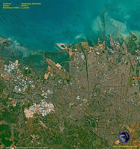 spot  satellite image  semarang indonesia satellite