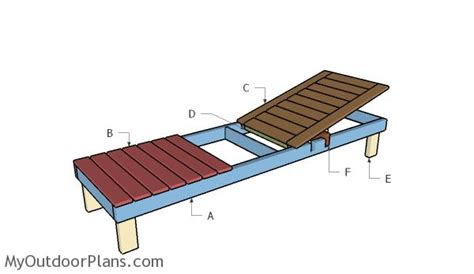 build  outdoor chaise lounge easy craft ideas