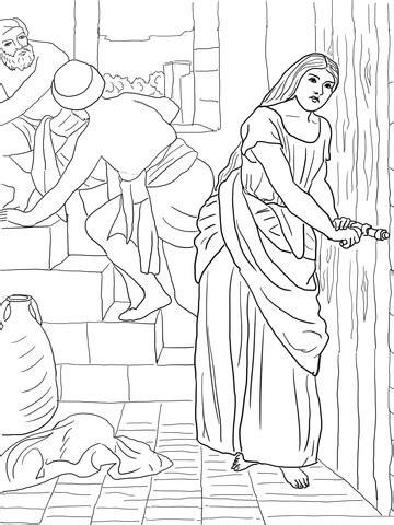 rahab hides  spies coloring page supercoloringcom