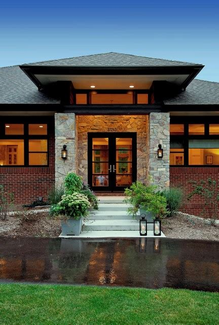 special small prairie style house plans house style design prairie style home contemporary entry detroit by