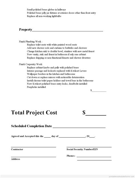 printable subcontractor agreement template  sample