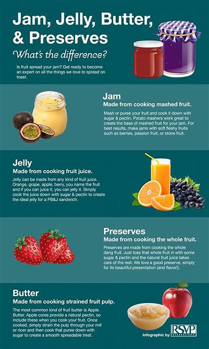 Jam Jelly Preserves Difference Between Infographic Butter