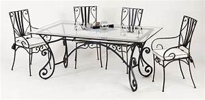 133 table chaise fer forge table zellige marocain fer With salle a manger fer forge maroc