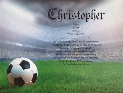 soccer gift idea personalized print for boy or girl first name