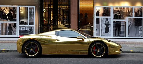 gold ferrari gold ferrari 458 spider the billionaire shop