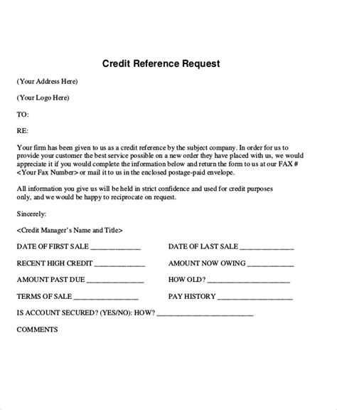 sample reference request letter templates