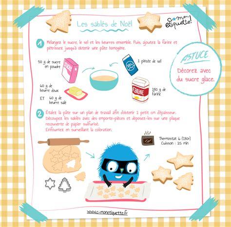 recette cuisine enfants recette sablés de noël atelier noël et